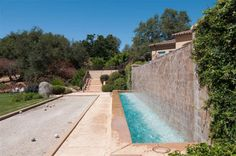 Bocce Ball Court and Water Feature
