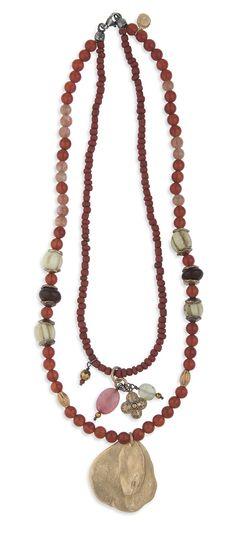 Collar doble bronce, plata, cornalina Chan Luu, Beaded Necklace, Jewelry, Fashion, Carnelian, Silver Necklaces, Bead Necklaces, Bronze, Turquoise