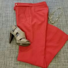 """LOFT dressy trousers NEW NEW No Tags, this are the most flattering and comfortable trousers ever. They make your butt look amazing  ;)  Marisa style, a little flare at the hem.   Inseam  29.5"""" waist 15""""  hips 18"""".Fabric 62% polyester, 33& rayon,  5% spandex. Orange burnt color. Not lined. Tagged 2PETITE, it would fit size XXS**check measurements ** ****OFFERS WELCOME **** LOFT Pants"""
