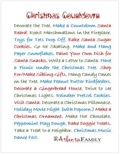 2013 Countdown to Christmas