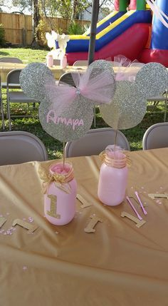 Pink and Gold Minnie Mouse first birthday