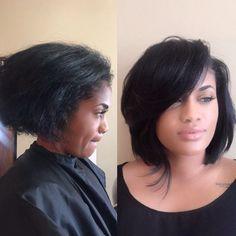 Yes to this bob✂️ Hair by @dereqc ❤️ #voiceofhair voiceofhair.com