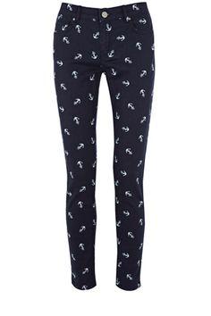 Anchor Cherry Crop Jeans