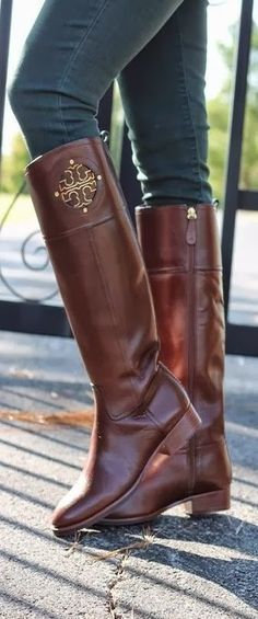 Adorable tory burch long riding boots fashion