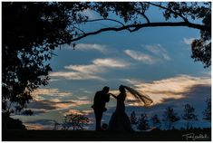 Creative Bride & Groom Sunset Silhouette   Sandalford Winery   Swan Valley Wedding   Trish Woodford Photography Rain And Thunderstorms, Sunset Silhouette, Creative Wedding Photography, Family Photographer, Bride Groom, Swan, Fall Wedding, Reception, Weddings