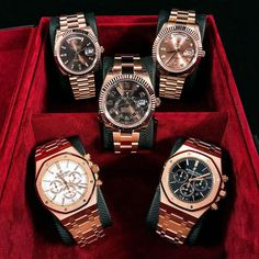 Red is the color of?  Rose Gold Watches  Which's your favorite? Let me know Visit our boutique to view!