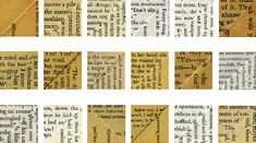 Diagonal Semantics and the Lacine: On Erica Baum's Dog Ear « Kenyon Review Blog Collage Book, Im Jealous, Conceptual Art, Writing, Words, Scripts, Dog, Reading, Mixed Media
