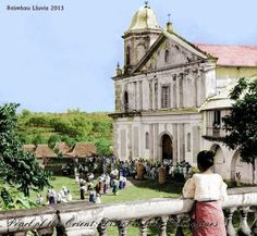 """Colorized version of """"When Church Is Out - Antipolo, Philippines."""" colorized and posted by Reimbau lluvia to Facebook Page """"Pearl of the Orient: Discover Old Philippines."""" ------ The Antipolo Church in the late 1890s from the John T. Pilot Collection. This church in Antipolo City was destroyed in World War II. Another church was built in the same site, and it is now called the Antipolo Cathedral. El Filibusterismo, Noli Me Tangere, Filipiniana, Spanish Culture, How To Speak Spanish, Manila, Filipino, World War Ii, Castles"""