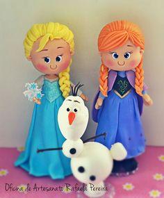 Elsa, Anna e Olaf