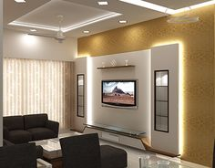 6 Amazing Useful Tips: False Ceiling Rustic Living Rooms false ceiling kitchen basements.False Ceiling Living Room Square false ceiling design for hall. Pop Design, Tv Wall Design, Design Ideas, Living Room Tv Unit Designs, Wall Unit Designs, Bedroom Tv Unit Design, Lcd Unit Design, Tv In Bedroom, Bedrooms