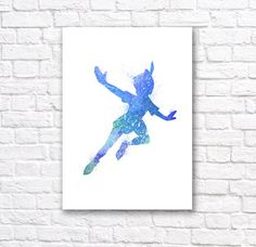 Peter Pan Watercolor Wall Art Poster 1 by BrightPixels on Etsy https://www.etsy.com/listing/202600927/peter-pan-watercolor-wall-art-poster-1