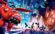 Wallpaper Big Hero 6, Les Nouveaux Héros de Disney.