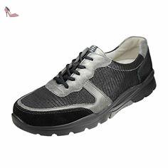 Henni, Chaussures à Lacets Femme - Mehrfarbig (Memphis Shine Taipei Schwarz Anthhrazit SW), 38 EU (5 UK)Waldläufer