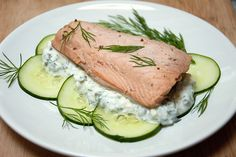 Simplicious Magazine's Poached Salmon,  Photo by Jaime Boddorff of Sweet Road http://www.simpliciousmag.com/2012/07/poached-salmon-with-feta-dill-caper-sauce/ by a sweet road, via Flickr