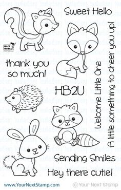 Your Next Stamp WOODLAND CUTIES Clear Stamp CYNS207 zoom image