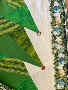 """Wall Christmas tree 28"""" x 78"""" Wall Christmas Tree, Christmas Time, Babies First Christmas, Etsy Shop, Quilts, Star, Decor, Decoration, Quilt Sets"""