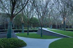 万科 · 海潮映月 / TK Studio What Is Landscape, Urban Landscape, Landscape Design, Architecture Graphics, Landscape Architecture, Landscape Background, Modern Landscaping, Walkway, Planer