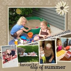 Summer scrapbook layout using My Digital Studio software from Stampin' Up!