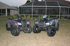 His & Hers 4wheeler camo hydrographics Adorable