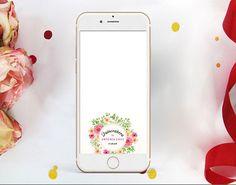 Quinceañera Snapchat Geofilter, Floral Frame Filter