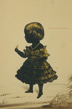 Antique Silhouette of Young Girl by Fredrick Frith of the Royal Victoria GalleryPeggy McClard Antiques