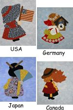 International Sunbonnet Sue #quilting
