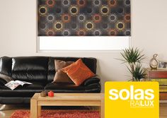 Solas roller blind fabric, by Railux. Decor, Blinds, Fabric Blinds, Furniture, Fabric Roller Blinds, Home, Fabric, Couch, Home Decor