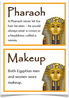 Ancient Egypt Fact Cards - Treetop Displays - Downloadable EYFS, KS1, KS2 classroom display and primary teaching aid resource