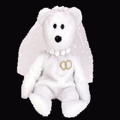Mrs. the bride bear, Beanie Baby