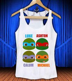 5 Second Of Summer Ninja Turtles #thetengtop for Tank Top Mens and Tank Top Girls custom on Etsy, $18.85