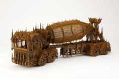 wim - Gothic cathedrals and construction vehicles; to most, the two could not have less to do with each other, but to Wim Delvoye, the former can be used. Steel Sculpture, Sculpture Art, Sculptures, Gothic Elements, Laser Cut Steel, Gothic Cathedral, Motorcycle Art, Famous Art, Conceptual Art