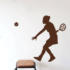 Woman Tennis Player Silhouette Wall Decal Mural Sport Girl Playing Tennis Art Wall Sticker Home Room Decor Wall Decals Price history. Subcategory: Home Decor. Wall Stickers Sports, Vinyl Wall Stickers, Vinyl Wall Decals, Jouer Au Tennis, Baseball Wall Decor, Kids Room Art, Kids Rooms, Rooms Home Decor, Room Decor