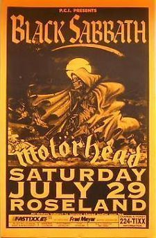 Metal concert posters | ... Metal: Ozzy & Black Sabbath at Miami Beach Convention Concert Poster