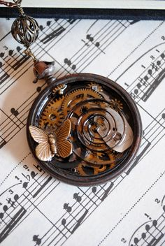 Steampunk Pendant  The Time Machine by RagDolliesMadhouse