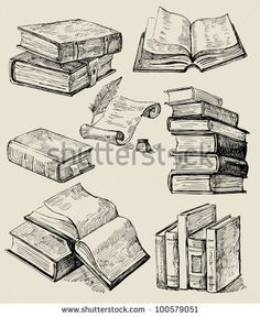 clip art books black and white   Clipart Stack Of Books In ...