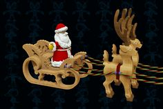 Sleigh and Reindeers Wooden Toy - SOLIDWORKS - 3D CAD model - GrabCAD