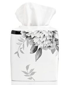 Lenox Bath Accessories, Moonlit Garden Tissue Holder - White