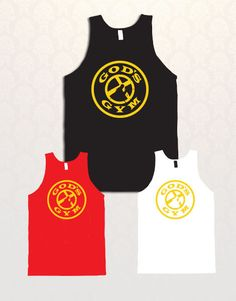 Gods Gym gym tank top and tshirt by decalnation on Etsy, $14.99