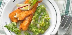 Knusper-Schnitzel mit Brokkoli-Stampf