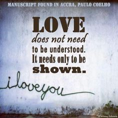 love needs to be shown