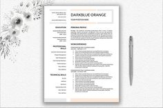 Professional Resume Template | One Page Resume and Two Page Resume | Curriculum Vitae Template for Word | Modern Resume | Resume Download #resumetemplate #CVtemplate #resumedesign #professionalresume #professionalcv #CURRICULUMVITAE #professionalresumetemplate
