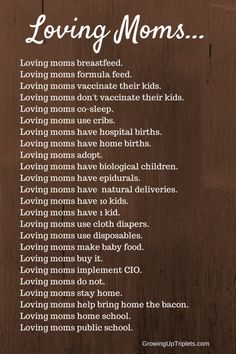 Loving Moms... - Growing Up Triplets
