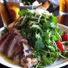 the best ahi tuna seared salad is at the Hub in Tucson