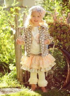 Cute girl ~ ruffles & dots...