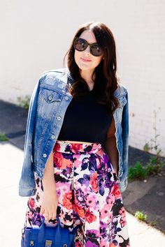 Floral Midi Skirt and Crop Top, on Kendi Everyday