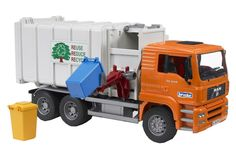 One of the best garbage truck toys in the market today. Bruder Man Garbage truck