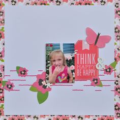 Think Happy-Be Happy - MCS Main Kit April 2014. Pebbles 'Garden Party' col