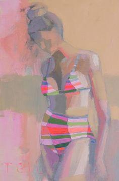 Teal Duncan - signed image print 110 (original sold) VINTAGE SWIM, 18X24