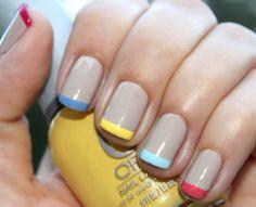 Multicolored manicure