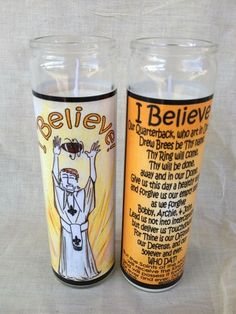 "Fleurty Girl - Everything New Orleans - Believe Candle, $15. The candle's prayer says: ""Our Quarterback, who art in Uptown, Drew Brees be thy name. Thy Ring will come, thy will be done, away and in our Dome. Give us this day a healthy team, and forgive us our empty seats as we forgive Bobby, Archie, & John. Lead us not into interceptions, but deliver us Touchdowns! For Thine is our Offense, our Defense, and our 504ever and ever."" Made locally."